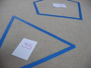 Preschool shape game