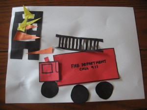 Fire Truck Craft - No Time for Flash Cards