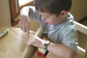 Paper roll flute craft