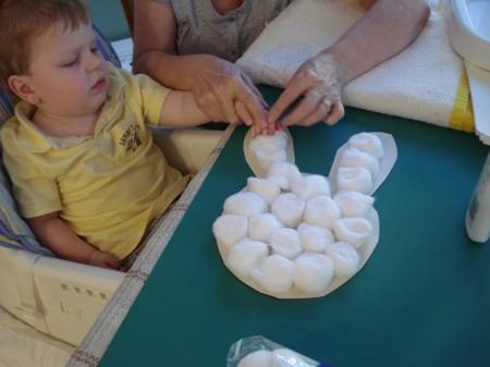 Cotton Ball Bunny