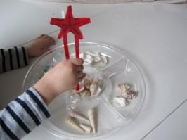 Preschool Shell Sorting Activity