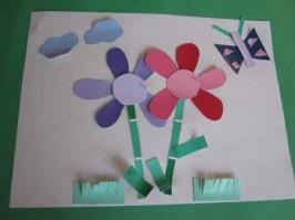 Paint Chip Flowers