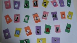 Recycled Alphabet Craft