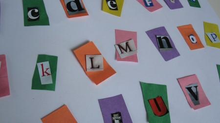 Recycled alphabet craft no time for flash cards alphabet books spiritdancerdesigns Gallery