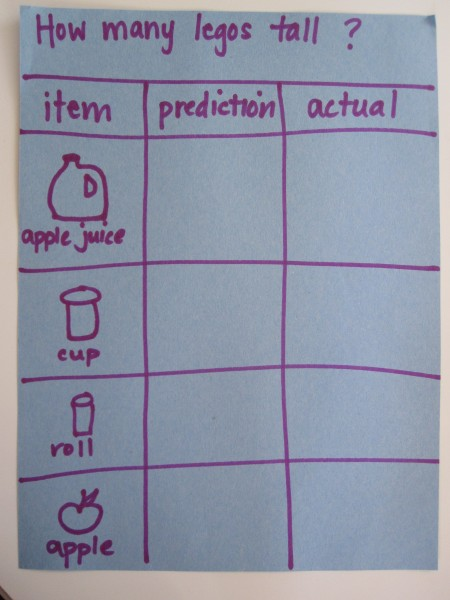 Preschool Math Lesson : Lego Measurement - No Time For Flash Cards