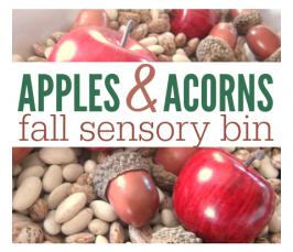 fall sensory table for kids