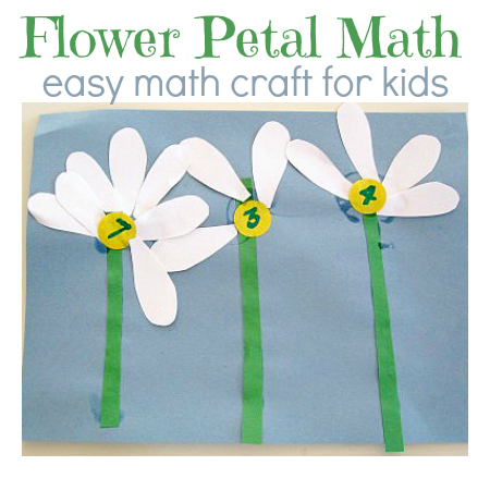 Spring Flower Math Activity - No Time For Flash Cards