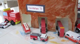 milk carton firestation craft