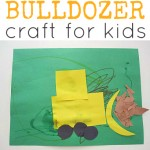 Shape Bulldozer Craft For Kids