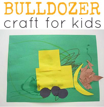 Bulldozer craft for kids