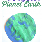 Puffy Paint Earth Day Craft