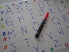Letter Tracing – Write and Trace Place Mats