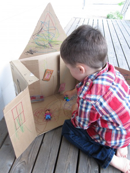 Big Exciting Projects Are Often Really Simple This Cardboard Box Dream House Is A Kids Craft Anyone Can Make And Best Of All It Will Get Played With
