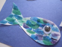 Finger Print Fish Craft