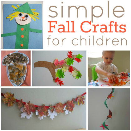 Easy fall crafts for kids for Simple fall crafts for kids