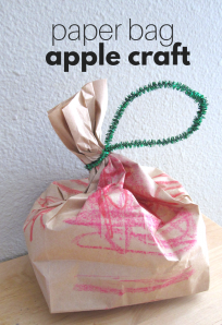 Paper bag apples