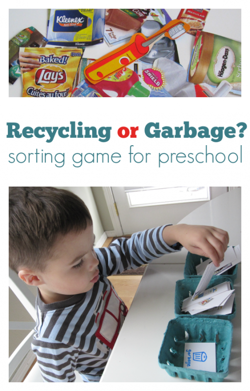recycling sorting game for kids