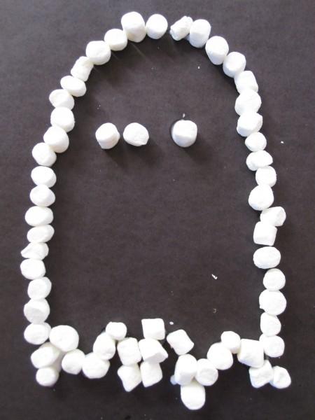 Marshmallow Ghost Halloween Craft