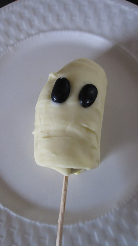 Ghosts On A Stick Frozen Banana Ghost Treats No Time