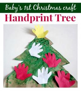 Handprint Christmas Tree {Baby's 1st Christmas Craft}
