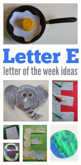 Letter of The Week – Letter E Theme
