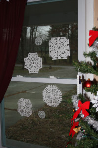 Hole Punch Snowflakes