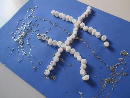 Marshmallow Snowflake Kids Craft