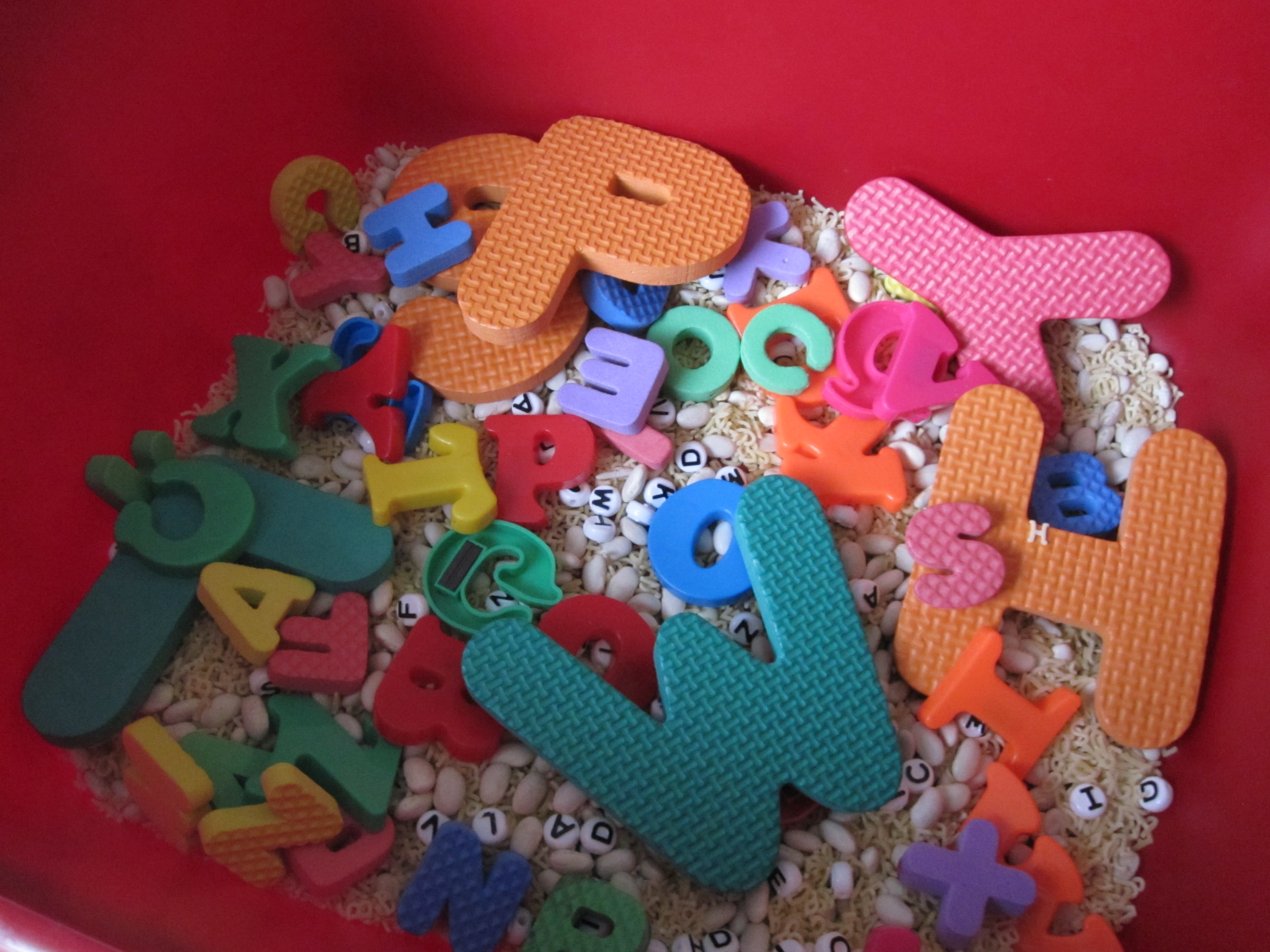 Foam letters for crafts - Alphabet Sensory Tub