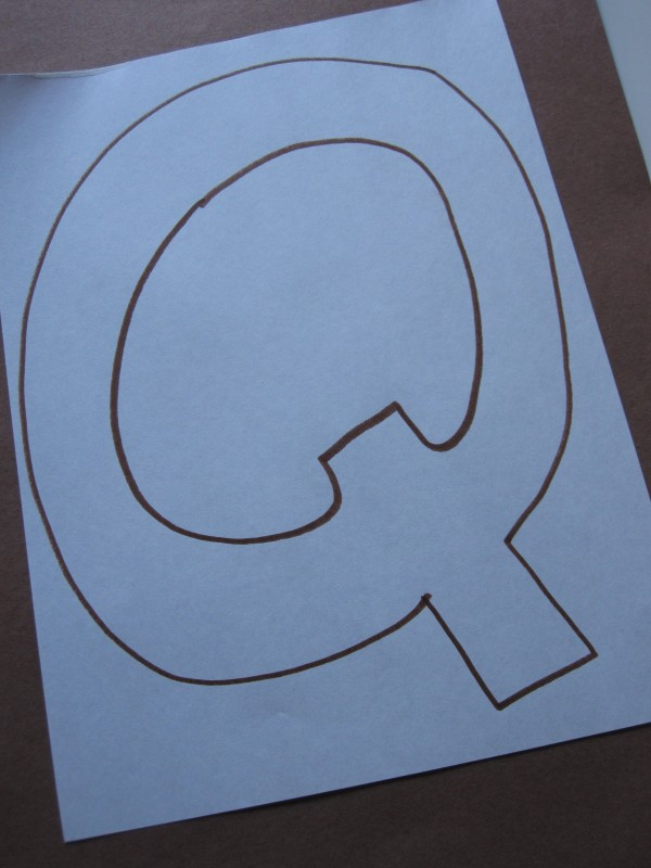 Letter Of The Week Quilt Q No Time For Flash Cards