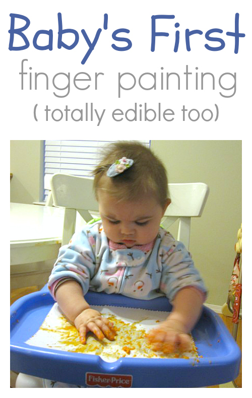 baby's first finger paint