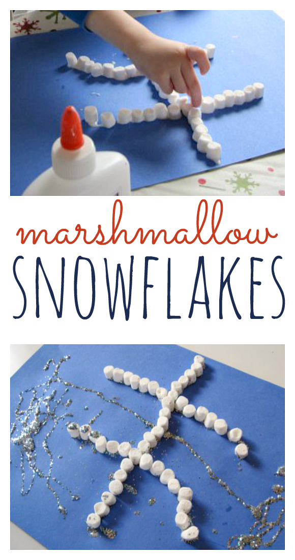 Marshmallow Snowflakes - No Time For Flash Cards