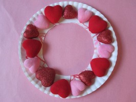 Puffy Heart Wreath