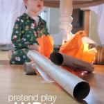 Pretend Play Camping and Campfire Craft