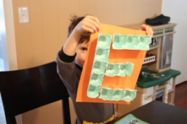 Letter of the week – Egg Carton E