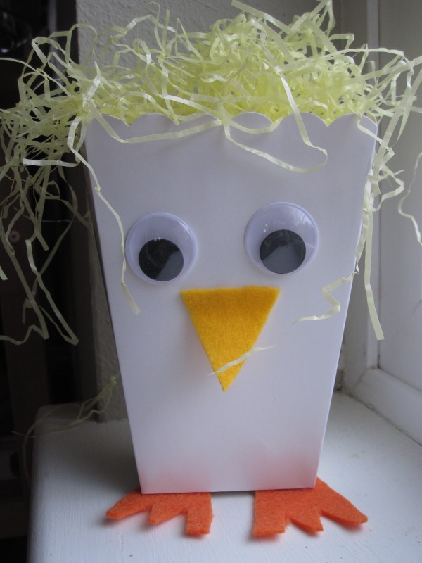 Fun Easter Craft - Chick Treat Box