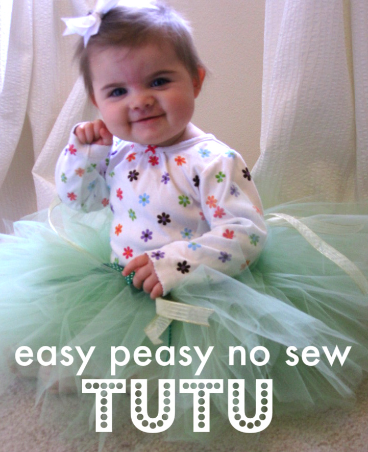 c076739655 Baby Dress Up - Easy No Sew Tutu! - No Time For Flash Cards