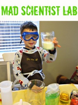 science lab pretend play for kids