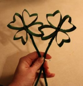 Paper Roll Shamrock Craft