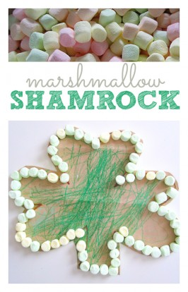Marshmallow Shamrock Craft