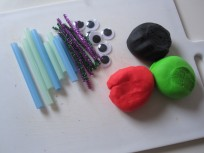 Play Dough Bug Sculptures