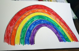 Matching Rainbow Learning Activity