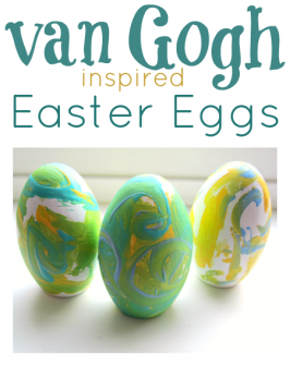 Painted Van Gogh Easter Eggs