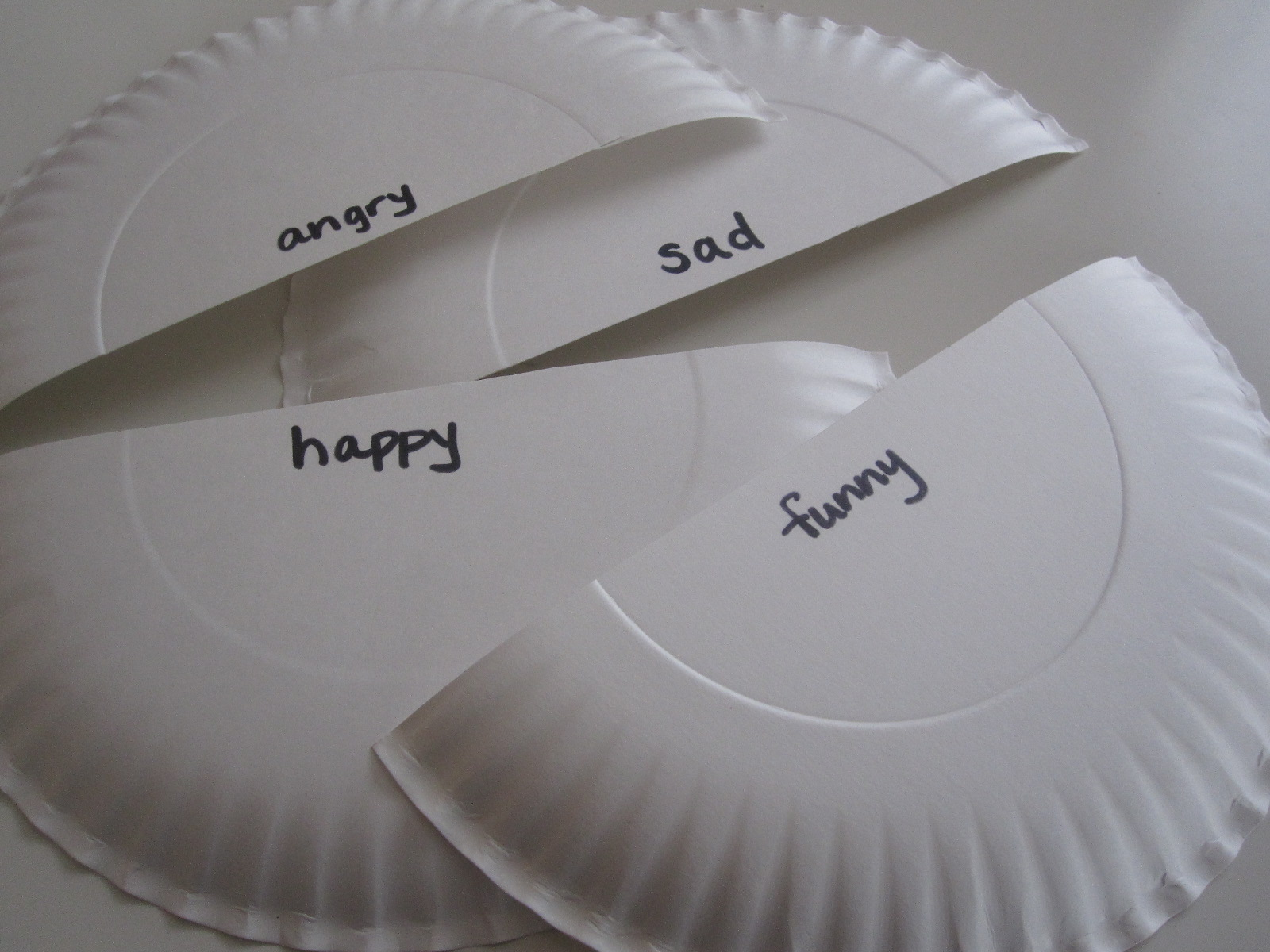 I ... & Paper Plate Emotion Masks - No Time For Flash Cards