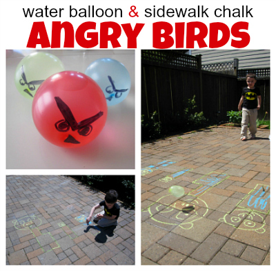 Angry Birds Water Balloon Game - No Time for Flash Cards