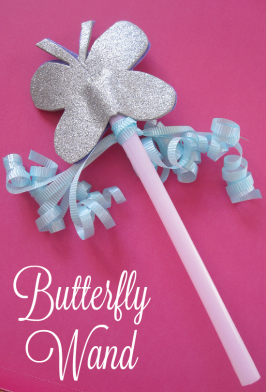 butterfly fairy wand craft