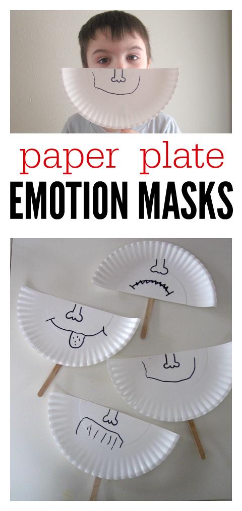 Paper Plate Emotion Masks , No Time For Flash Cards