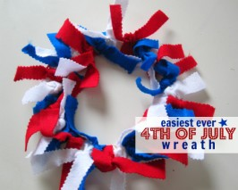 Super Easy 4th of July Wreath