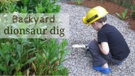 Backyard Dinosaur Dig