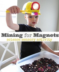 minig for magnets science sensory tub