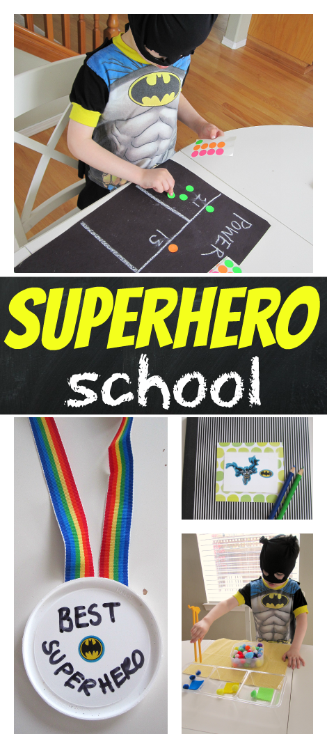 super hero school quite time activities